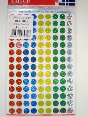 Fylld cirkel, punkt, olika färger, glitter 8mm 504st