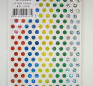 Cirkular dot, Various Colors, glitter 5mm 1400pcs