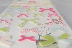 Patterned Ribbons 2, felt