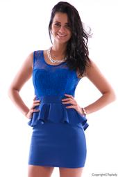 Blå kort figurnära festklänning