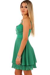 Grön kort festklänning
