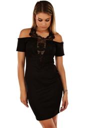 Snygg svart fodralklänning