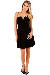 Svart kort klänning