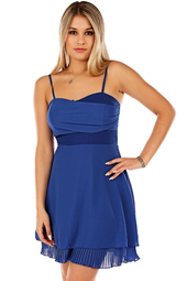 Blå kort festklänning