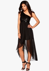 MARIA - Paljettklänning svart