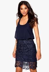 EMMA - Kort festklänning mörkblå