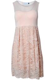 Spetsklänning Aprikos