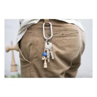 Krom Nyckelring - Ljusblå