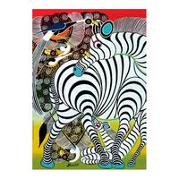 Heye Pussel: Tinga Tinga African art: Zebra