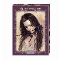 Heye Pussel: Dark Rose by Victoria Frances 1000 bitar