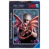 Ravensburger Pussel - Dragon Girl - 500 bitar