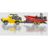 Siku 1:87 - 1658 Jeep med Båt