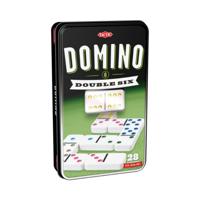 Domino Double 6 i plåtlåda