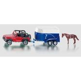 Siku 1:87 - 1651 Jeep med Hästtrailer