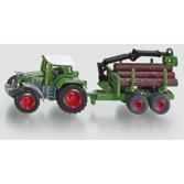 Siku 1:87 - 1645 Traktor med Timmersläp