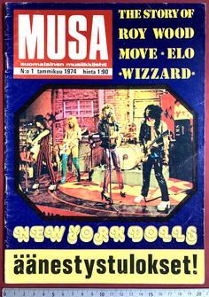 MUSA - No 1 1974 - NEW YORK DOLLS omslag