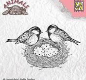 """Nellie - Snellen -  Clear Stamps Animals """"birdsnest"""""""