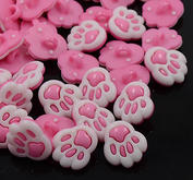 10 st knappar - rosa tassar