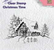 Nellie - Snellen -  Clear Stamps -christmas time - snowy house