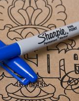 Sharpie Penna Blå