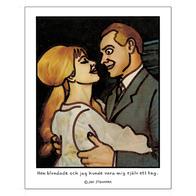 Affisch Jan Stenmark 'Blundade' liten 24x30 cm