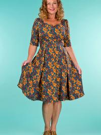 the drop dead gorgeous dress. autumn leaves