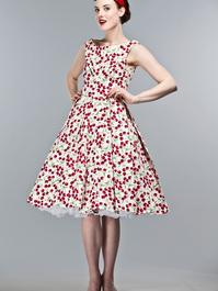the midsummer dream dress. Cherry printed pique