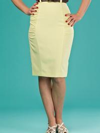 the curvy wiggle skirt. pale lemon