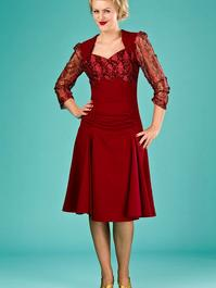 the glory of the past dress. red crêpe/lace