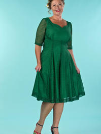 the drop dead gorgeous dress. green lace