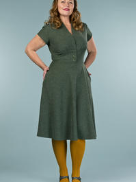 the apple of my eye dress. deep forest bouclé