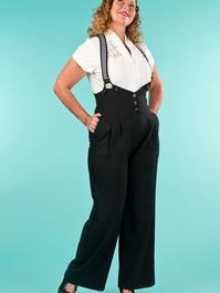 the miss fancy pants slacks. black jacquard