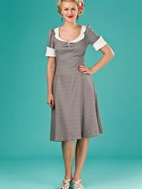 the lovely lindy dress. brown weave