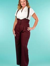 the miss fancy pants slacks. fig jacquard