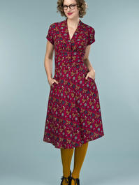 the apple of my eye dress. pheasants print