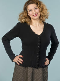 the curvylicious cardigan. black