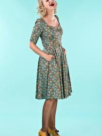 the sweetheart swing dress. acorns dusty blue
