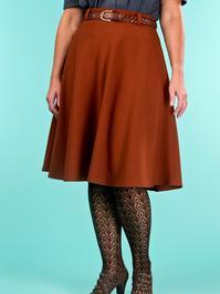 the jazzy A-line skirt. cinnamon jacquard