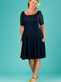 the drop dead gorgeous dress. navy lace