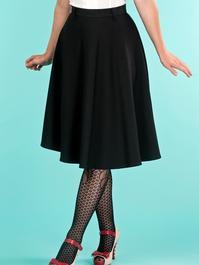 the jazzy A-line skirt. black jacquard