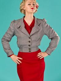 Amelia's aviator jacket. brown weave