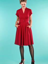 the rock around the clock dress. wine dots