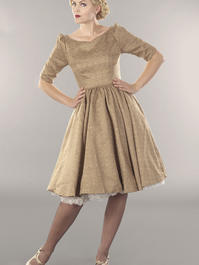 the ice breaker swing dress. antique gold