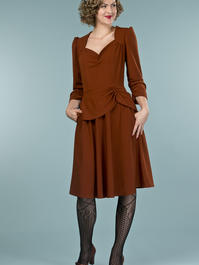 the double trouble dress. cinnamon crêpe