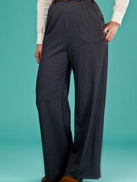 the handy dandy pants. navy plaid