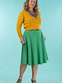the jazzy A-line skirt. forest green weave