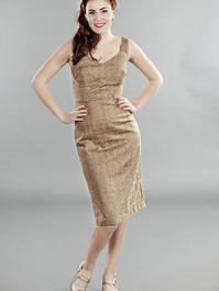 the jamming with Jackie dress. Antique gold
