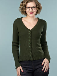 the curvylicious cardigan. deep forest