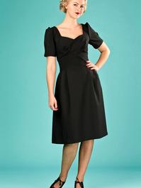 the tasteful teatime dress. black jacquard