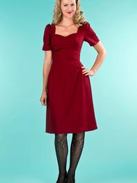 the tasteful teatime dress. wine crêpe